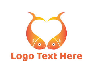 Goldfish - Fish Kiss logo design