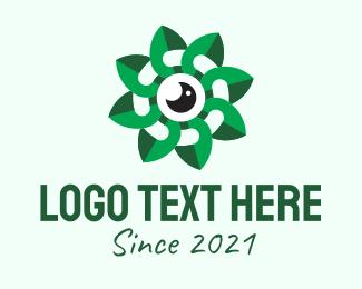 Video Coverage - Green Leaves Camera logo design