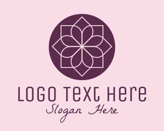 Negative Space - Minimalist Flower Spa logo design