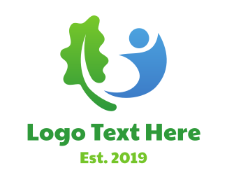 Foundation - Leaf And Human logo design
