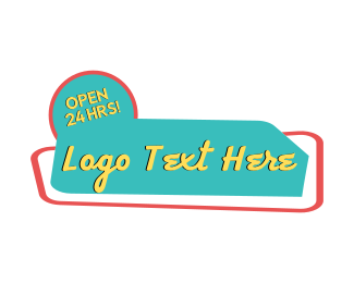 Diner - Retro Diner Wordmark logo design
