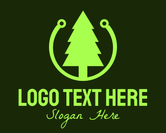 Pine - Pine Tree Technology logo design