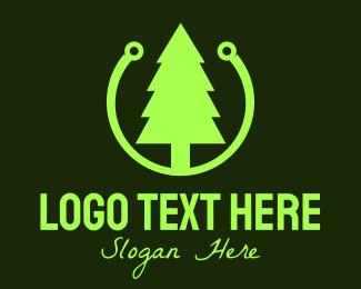 Pine - Pine Tree Technology logo design