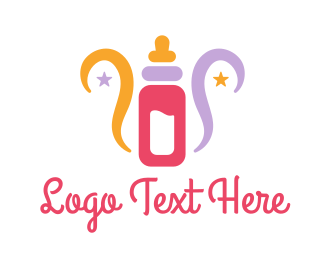 Maternity - Colorful Feeding Bottle logo design