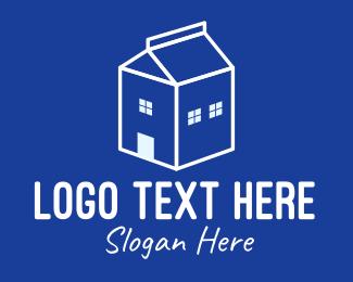 Dairy Farm - White Dairy Home logo design