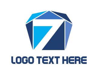 Number 7 - Seven Diamonds logo design