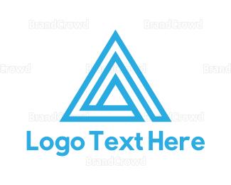 Triangle - Triangle Letter A logo design