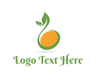 Healthy Living - Abstract Bean Sprout logo design