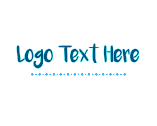 Cool - Blue Funky Wordmark logo design