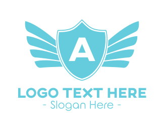 Institution - Angel Winged Shield logo design