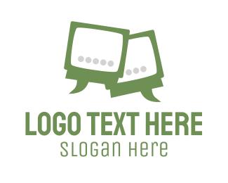 Tv - TV Talk logo design