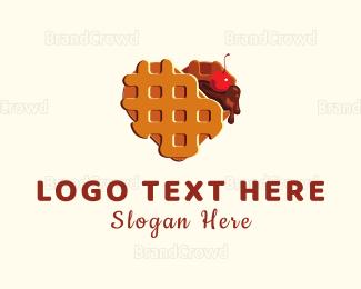 Cookie - Waffle Heart logo design
