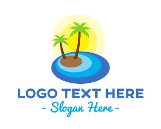 Island - Summer Island logo design