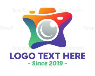 Cameraman - Paint Splatter Camera logo design