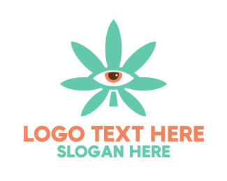 Eye Glasses - Cannabis Eye logo design