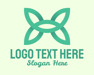 Tree Planting - Green Leaf Wings logo design
