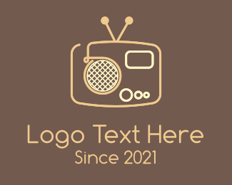 70s - Retro Radio  logo design