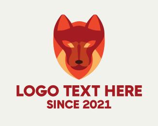 K9 - Red Guard Dog logo design