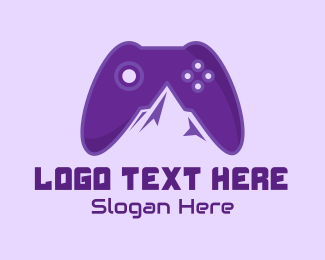 Game Store - Violet Mountain Game Controller logo design