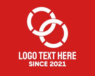 Lifeguard - White Intersecting Circles logo design