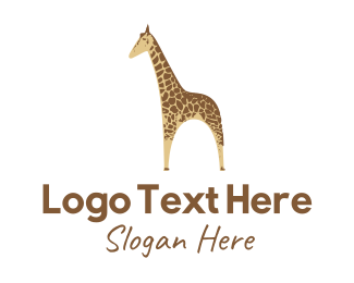 Safari - Yellow Giraffe  logo design