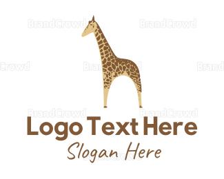 Madagascar - Yellow Giraffe  logo design