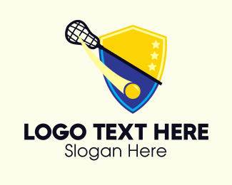 Ice Hockey Tournament - Lacrosse Team Shield logo design