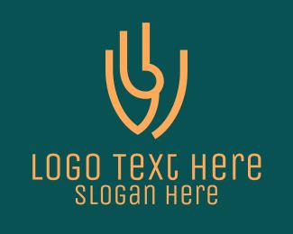 Lines - Orange Tribal Lines logo design
