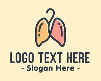 Cancer - Respiratory Lungs Hanger logo design