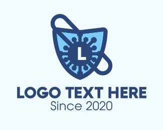Immunity - Virus Protection Shield Lettermark logo design