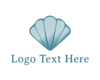Aqua - Blue Seashell logo design