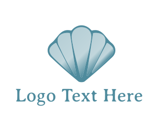 Mollusc - Blue Seashell logo design
