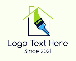 Paint - Property Painting Brush logo design