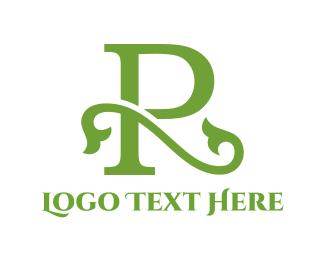 Letter R - Floral Letter R logo design