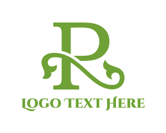 Branch - Floral Letter R logo design