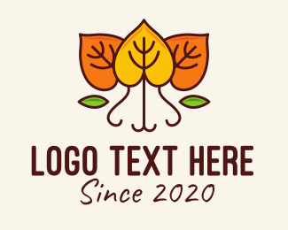 Season - Dry Autumn Leaves logo design