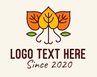Autumn - Dry Autumn Leaves logo design