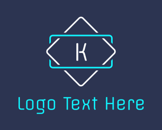 Led - Led K Signage logo design