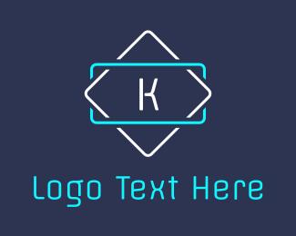 Trendy - Led K Signage logo design