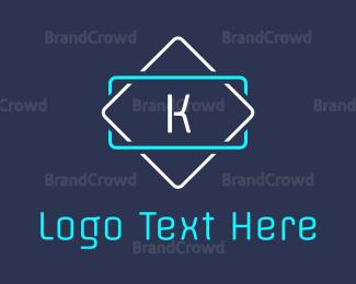 Led - Led K Signage logo design