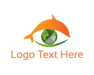 Dolphin - Dolphin Eye  logo design