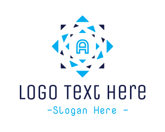 Typography - Triangle Mosaic A logo design
