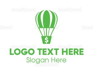 Currency - Dollar Parachute  logo design
