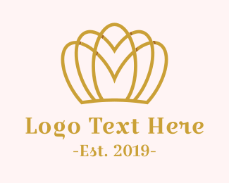 High Quality - Feminine Gold Crown logo design