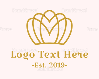 Feminine - Feminine Gold Crown logo design