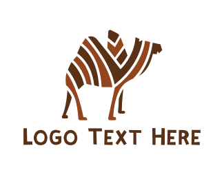 Middle East - Mosaic Stripe Camel logo design
