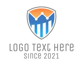Financial - Shield Financial Market logo design