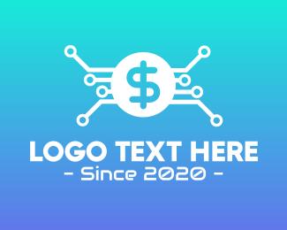 Bank - Dollar Currency Technology logo design