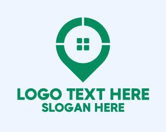 Geolocator - GPS Pin Window logo design