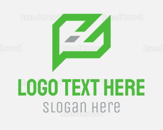 Social - Abstract Chat logo design